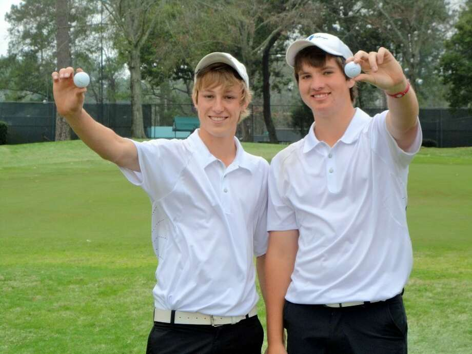 Travis golfers Ben Steinle (left) and Tyler Johnson each made holes-in-one last week at the Kingwood Invitational played at Kingwood Country Club.