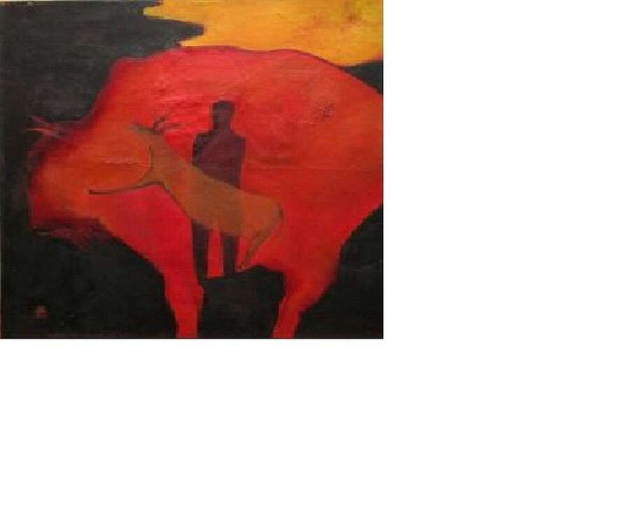 The Cave - La Cueva, by Becky Soria, is among paintings on exhibit in February at Archway Gallery.
