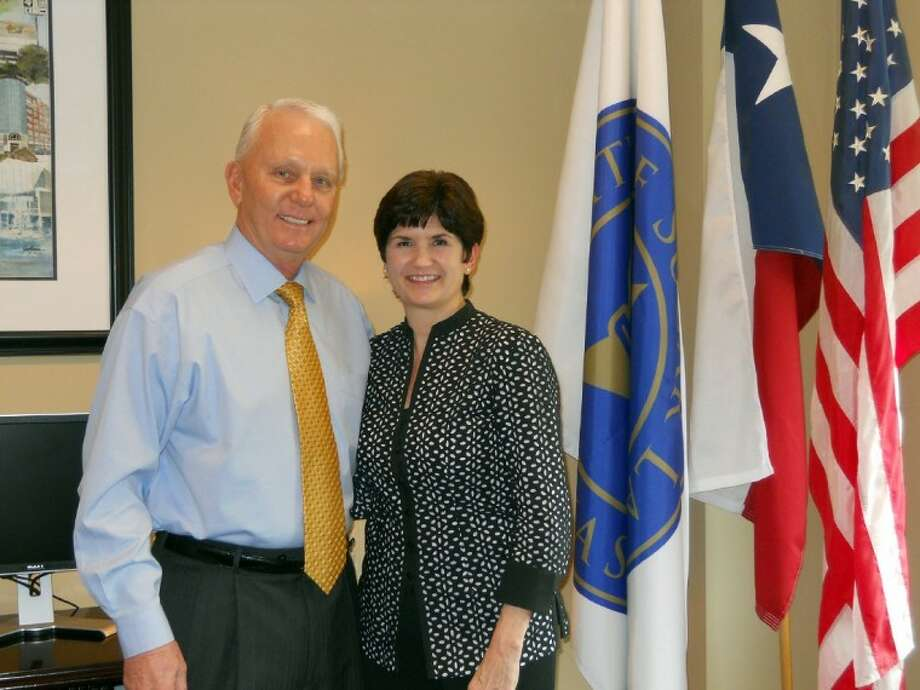 Sugar Land Mayor James Thompson and Hope for Three founder and president, Darla Farmer.
