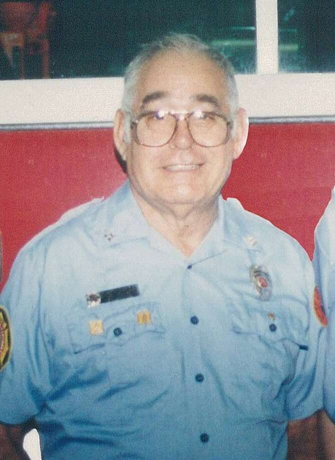 Sam Lianza during an AVFD award ceremony in which he was recognized as Volunteer of the Year approximately 10 years ago. Photo: Submitted Photo