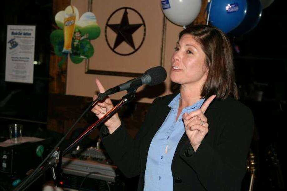 Addie Wiseman, candidate for State Representative District 127, thanks all of her supporters, friends and family at her campaign's watch party March 2.