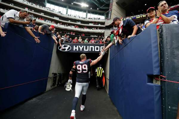Texans defensive end J.J. Watt will possibly be saying goodbye to fans for the rest of the season after re-injuring his surgically repaired back. Watt is expected to be placed on injured reserve.