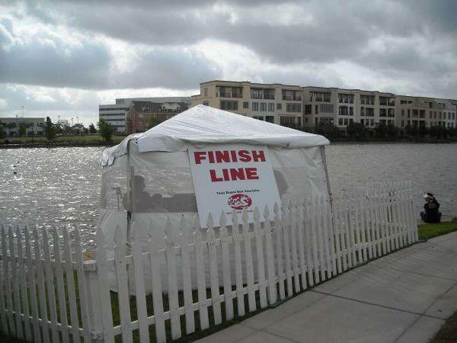 Dragon boat race finish line.