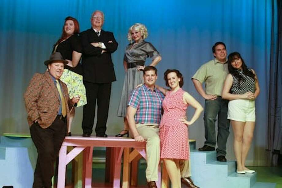 Pictured, left to right, are actors Rusty Groos, Katie Lewis, Bob Stahl, Susan Mele, Troy Holiman, Genny McClellan, Matt Pena and Victoria Bryan. Photo: SUBMITTED PHOTO
