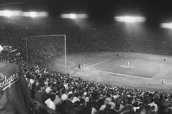 Dodger's Park Coliseum in Los Angeles.  (Photo by J. R. Eyerman/The LIFE Picture Collection/Getty Images)