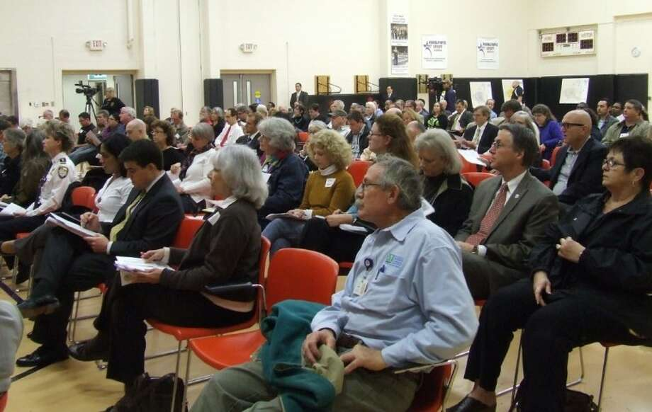 District C residents packed the annual meeting to discuss capital projects for their neighborhoods. Photo: CAROLINE EVANS