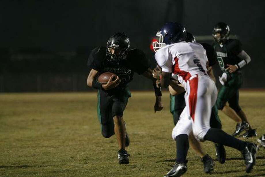 Kyle Ebow gives Kingwood Park a dynamic runner in the backfield at running back, as well as a backup quarter-back.