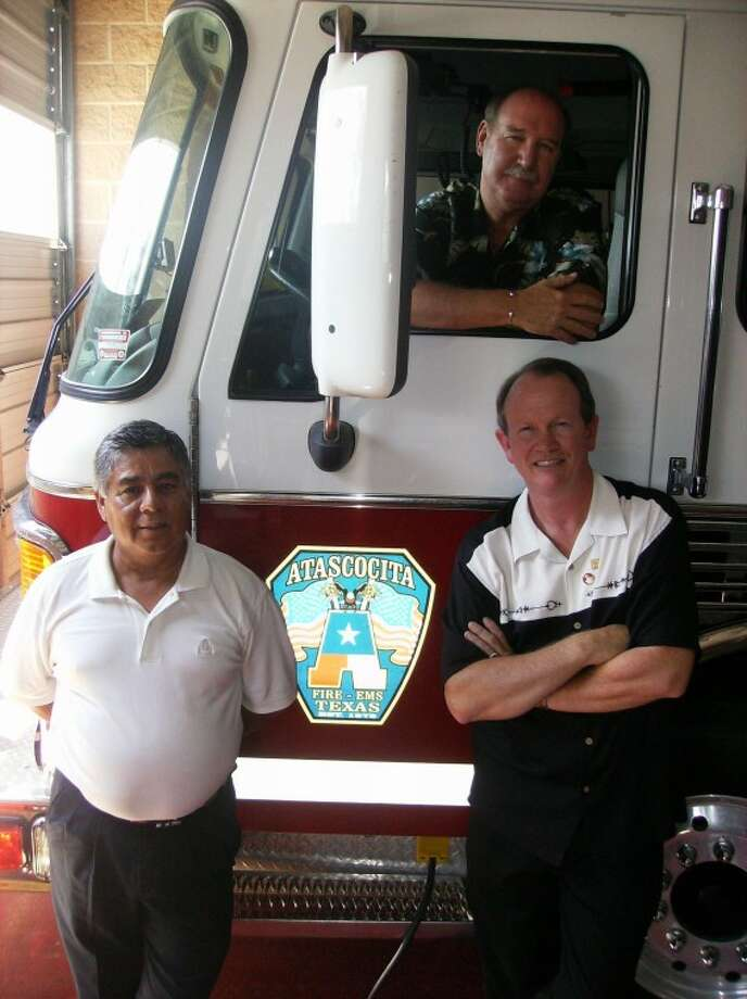 The Atascocita Volunteer Fire Department celebrated the retirement of three members who served as chiefs during their service with the department. Combined, Rafail Trevino, left, Robert Zapatka, center, and Mark Chiles, right, served more than 60 years with the AVFD.