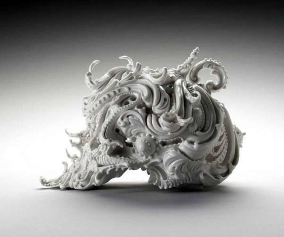 "Aoki Katsuyo, Japanese, born 1972. ""Predictive Dream,"" 2005. Porcelain. The Museum of Fine Arts, Houston, Garth Clark and Mark Del Vecchio Collection, gift of Garth Clark and Mark Del Vecchio ©2006 Aoki Katsuyo (Photo submitted by Museum of Fine Arts, Houston)"