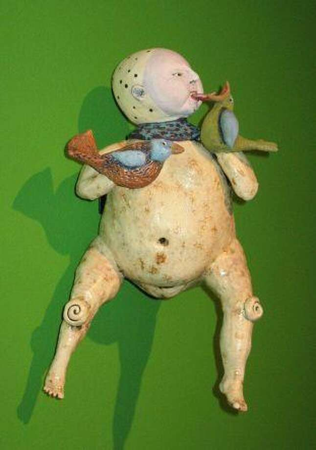 "Juliellen Byrne's ""You're Pretty Too,"" a work of ceramic to be displayed in the exhibit ""Literally Figurative."""