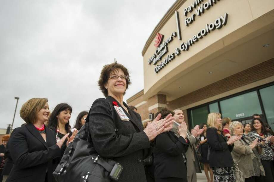 Texas Children's Pavilion for Women leadership, staff and physicians celebrate the opening of the new Pavilion for Women OB/GYN practice, which opened in Pearland this January. Photo: Submitted Photo