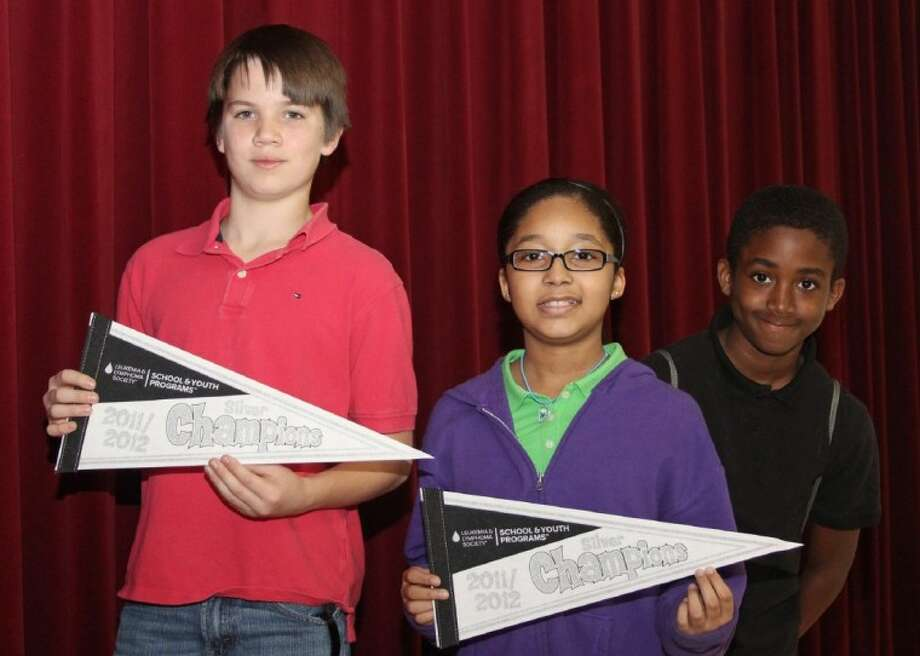 From left: Sam Jamison Middle School students Brenda Rudd, Camryn LaCour and Trey Glasco Photo: Pearland ISD