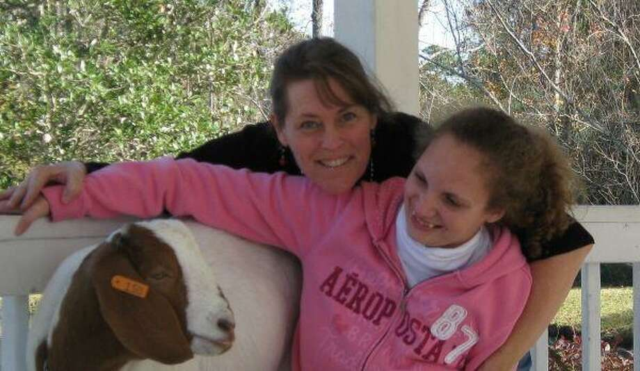 Over the weeks, a strong bond developed between Butterscotch and Caitlyn, shown with mom Ellen Shimer.