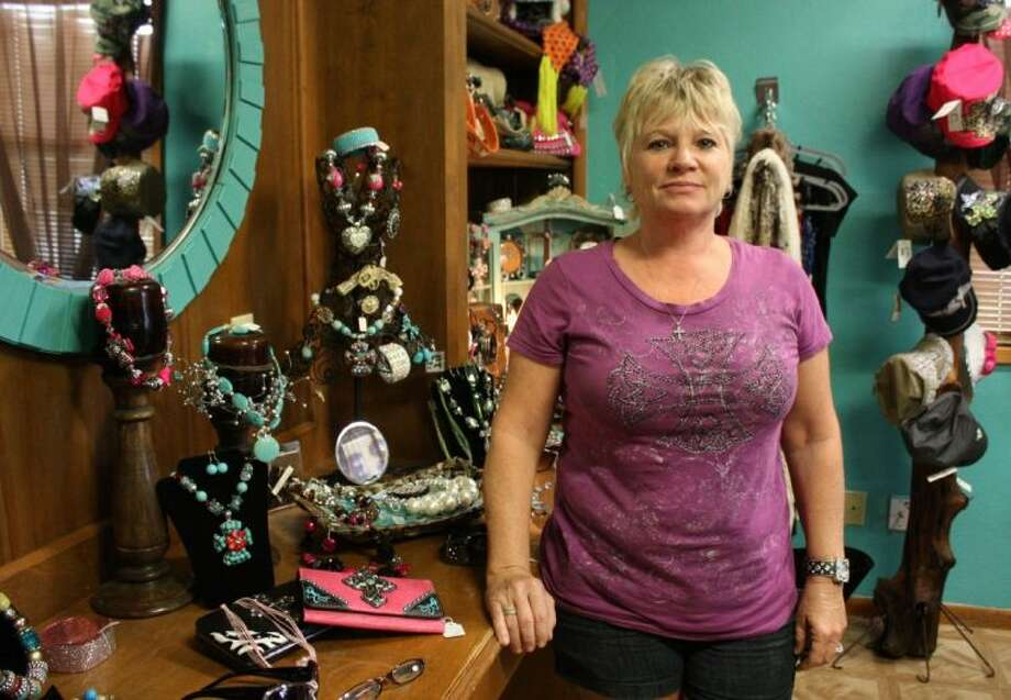 Tina Ward is the owner of Tanning and Treasures. She rents space from the Shepherd EDC. She said that the great location and affordable lease rates have helped make her business successful. In addition to tanning and supplies, she also sells shoes, jewelry and other accessories for women. Photo: MELECIO FRANCO