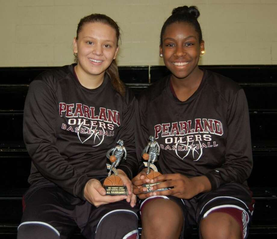 Miranda LeJune (left) and Keara Hudnall of Pearland provide the Lady Oilers with a solid backcourt entering the Class 5A playoffs. Photo: SUBMITTED PHOTO