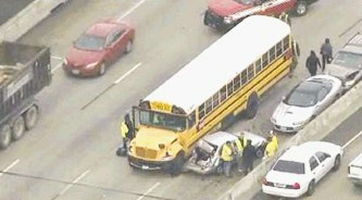 An Humble ISD school bus carrying K-Park students was involved in an accident in southeast Houston Feb. 16. No injuries to students were reported.