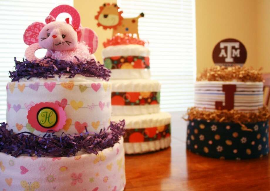 Erin Miller makes diaper cakes for expecting parents.