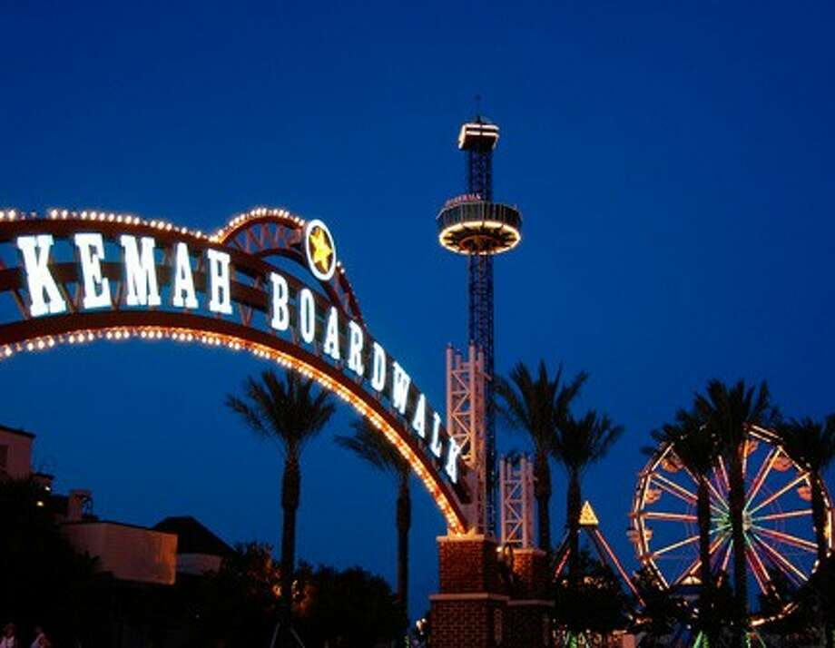 """Kemah Boardwalk continues Fireworks Fridays July 15, 22 and 29. Every Friday, guests will enjoy the Boardwalk's pyrotechnics feature, """"Star Spangled Sky"""" explode over the Galveston bay."""