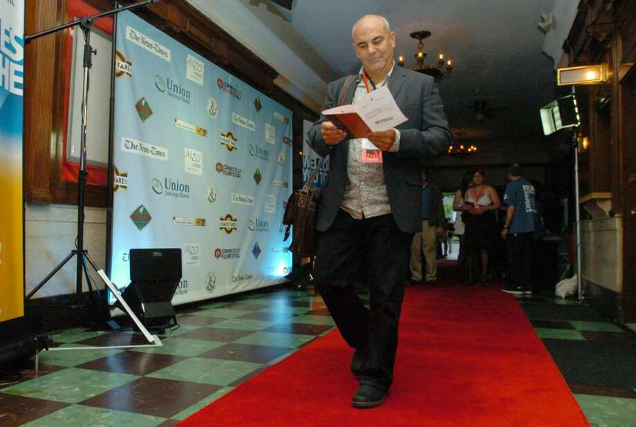 Steve di Costanzo of WPKN in Bridgeport attends the Connecticut Film Festival at the Palace Theater in Danbury Tuesday, May 4, 2010. Photo: Chris Ware / The News-Times