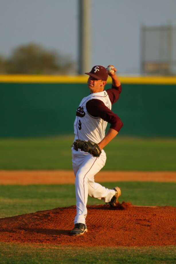 Cy-Fair High senior pitcher Trey Wall earned the victory on the mound in leading the Bobcats to an 8-3 victory over Cy Ranch on Tuesday night. (Photo by kjwesphotos.com)