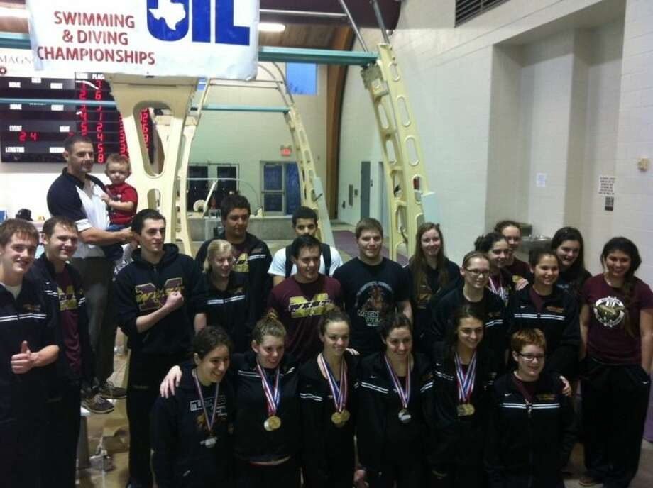 Several members of the Magnolia West swim team recently advanced to the State meet in Austin on Feb. 22-23. Photo: MISD