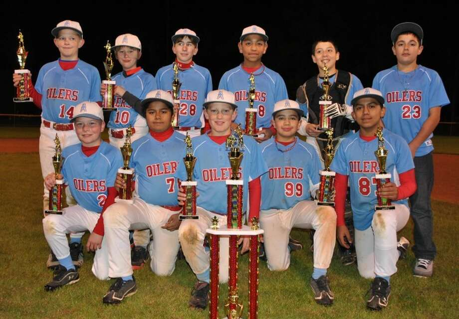 The 12U Humble Oilers have begunthe 2012 season undefeated through two tournaments. On the backrow, from left, are Bryce Klosterboer, Sebastian Daywalt, ZackIsbell, Steven Hernandez, Dru Lopez and Matt Mendoza. On the frontrow, from left, are Sean Lucas, Jesse Valdez, Nicholas Doxey,William Hernandez Jr. and Carlos Flores. Photo: Submitted Photo