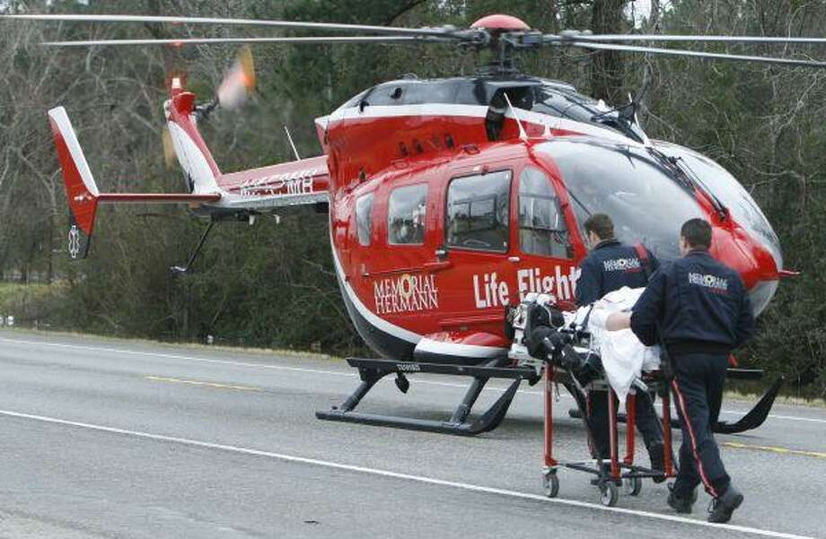 Bonnie Caraway was taken by Life Flight to Memorial Hermann Hospitial after a two-car collision on SH 321 near CR 304 Friday, January 29.