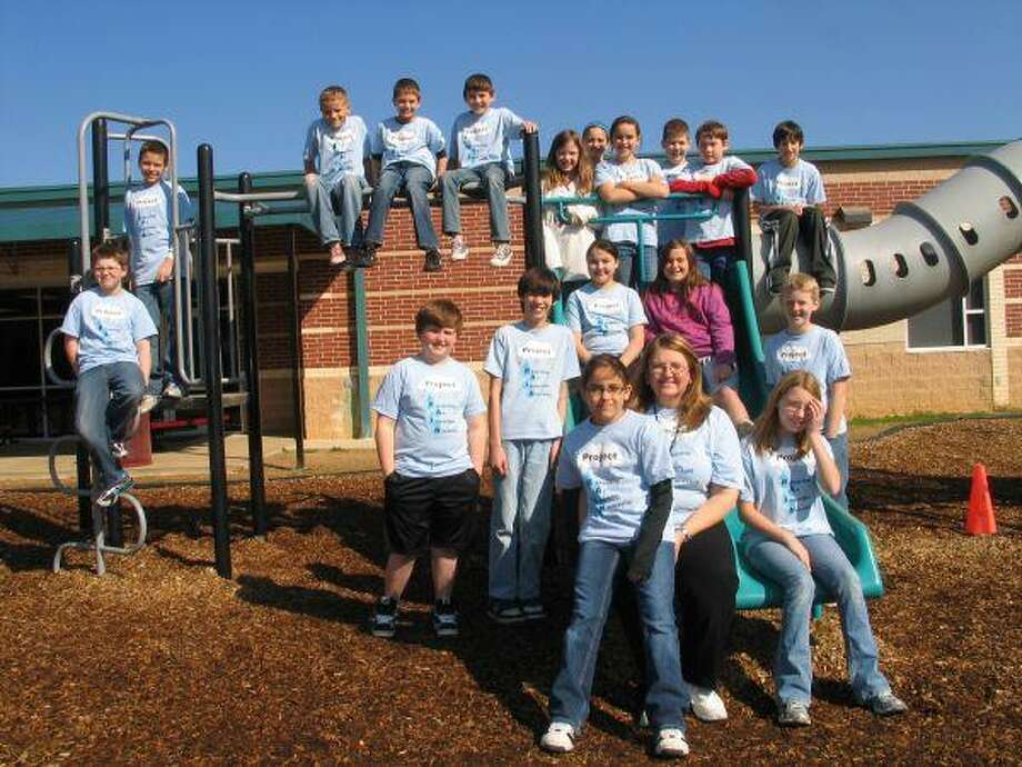 Academics and GT teacher, Cherrie Edwards with her fifth grade Gifted and Talented class.