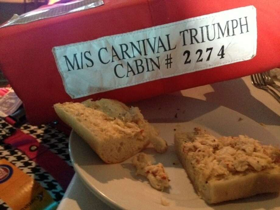Atascocita residents Mary Jo and John Olsavsky reported that they were served cold sandwiches and cucumbers for days aboard the cruise ship Triumph after a fire stranded the ship in the Gulf of Mexico for seven days.