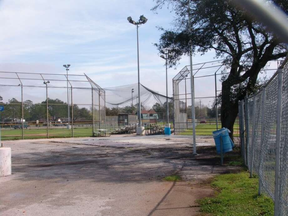 All that remains of the Fieldhouse and Concession Stand at Strawberry Park is a slab. Photo: JEFF NEWPHER