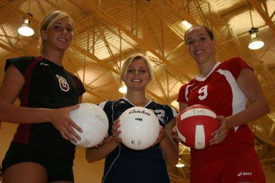 (Left to right) Magnolia's Kelli Stewart, Concordia's Kathryn Carlson, and Tomball's Jackie Stabell look to lead their teams throughout the 2008 season. Rosehill and Magnolia West will have their hands full this year with moving to new classes and being under new coaches. (Representatives from Rosehill and Magnolia West were not available.)