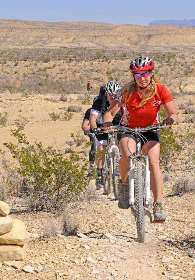 LAJITAS—More than 300 riders logged hundreds of miles along various trail routes through Big Bend Ranch State Park for the third-annual Chihuahuan Desert Bike Fest, as one of the country's premier mountain bike ride tours came to a close today in the rugged mountains of southwest Texas. Trail rides ranged in length from a short, 7-mile kid-friendly ride, to the grueling 58-mile EPIC Ride through rocky terrain, canyons and mountain landscapes. All rides were guided by trained state park staff and expert volunteers. For more information on mountain biking in Texas, visit www.texasstateparks.org, or for information on Big Bend area riding, visit www.desertsportstx.com, or call (432) 358-4444.