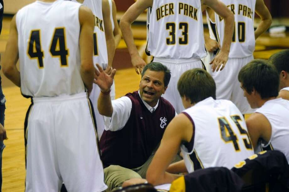 PHOTO BY KIRK SIDES/HCN:The Deer Park Deer came up short Tuesdaynight at Summer Creek High Schoolas they lost the first round ofthe playoffs35-60 to the North Shore Mustangs.