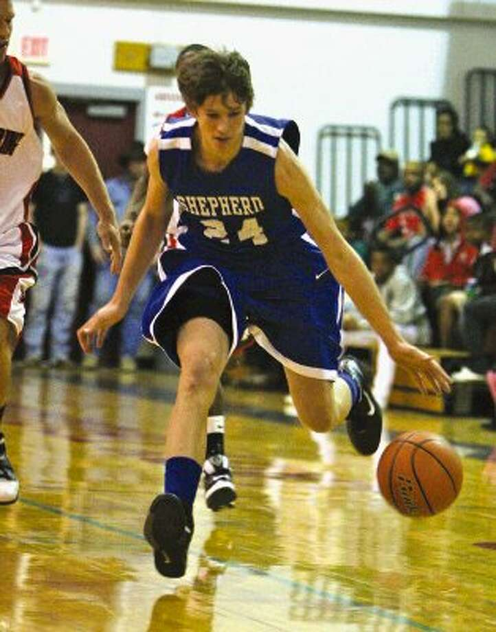 Shepherd guard Cody Everitt was selected to the first team all-district squad. / Houston Community Newspapers