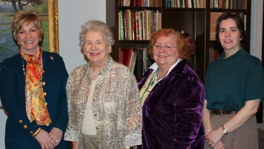 The Liberty Woman's Club celebrated Texas History Month at their recent meeting. Linda Jamison (far left), Libertad DAR Regent, was the guest speaker. She was welcomed by LWC Members Donna Neumeyer and hostesses Patricia Lazenby and Lisa Meisch.