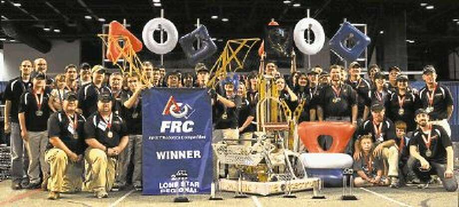 The Clear Creek ISD / NASA Johnson Space Center Robotics team celebrates a big win. The Robonauts are headed to the championship games in April. / @WireImgId=2214243