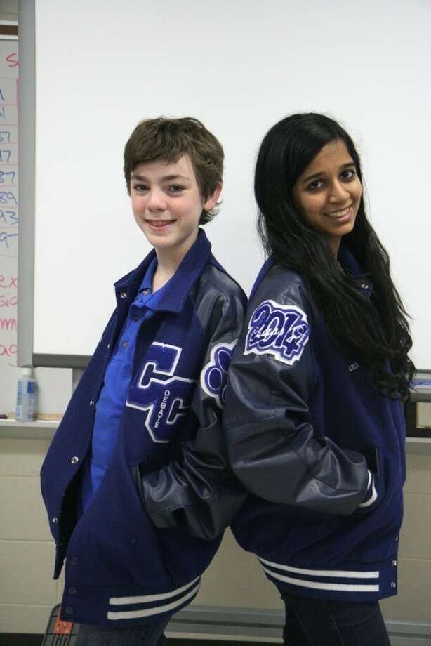 Cypress Creek High School students Christian Kimbell, left, and Caro Achar both earned the National Forensic League Degree of Premier Distinction. Photo: Emmaleigh Kercsmar