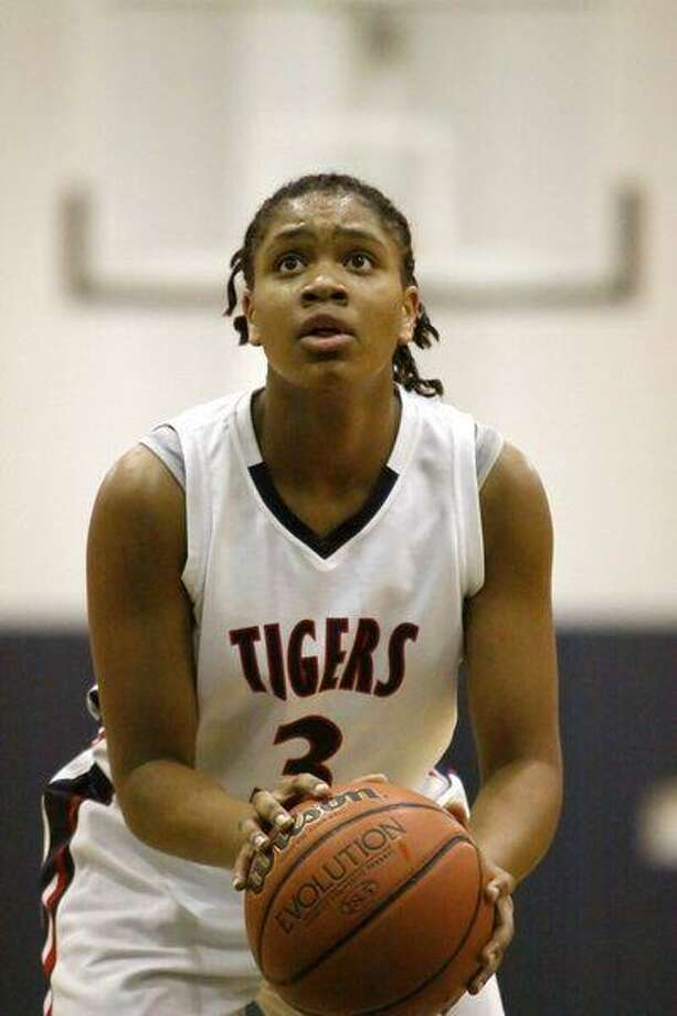 Klein Collins High sophomore Veja Hamilton is one of two freshmen to ever start for the Lady Tigers' basketball program. (Photo by kjwesphotos.com)