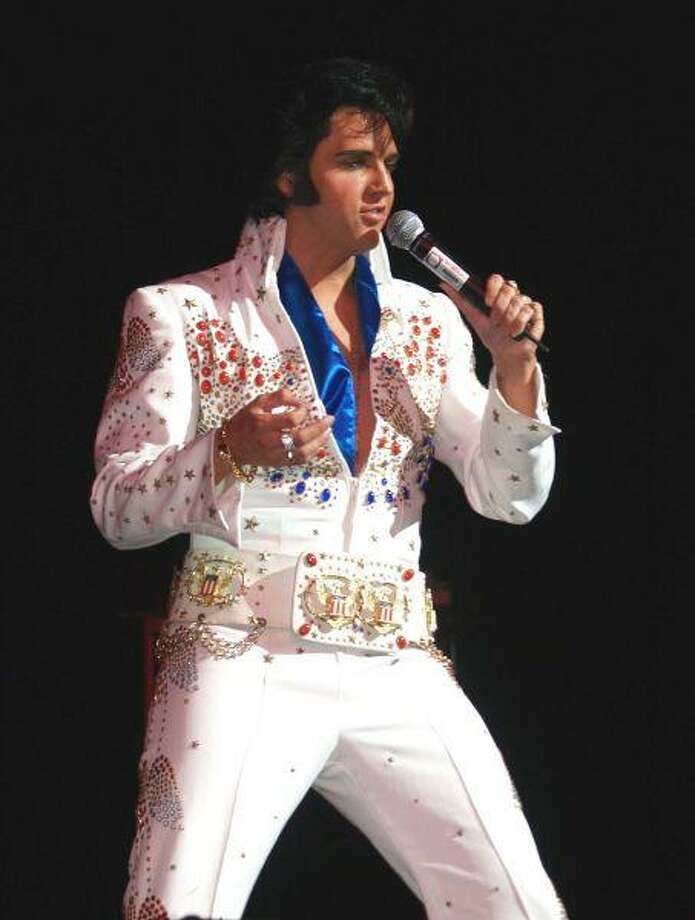 Originally from Lake Jackson, Donny Edwards, 35, now resides in Las Vegas and travels worldwide performing his jaw-dropping tribute to the king.