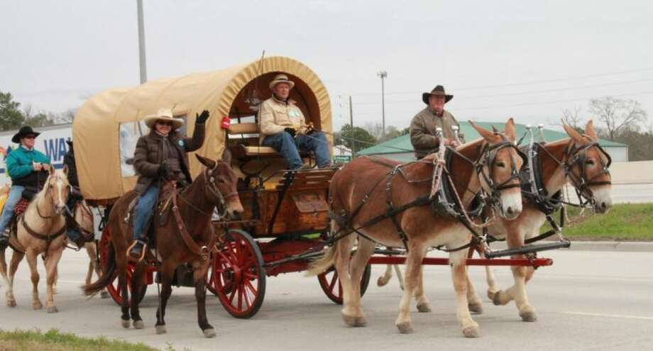 The Spanish Trail Riders began their journey to the Houston Livestock Show and Rodeo in Shepherd, Texas on Monday, Feb. 18. On Wednesday, Feb. 19, they traveled through Cleveland, Splendora, New Caney and Porter before arriving in Humble for the night.