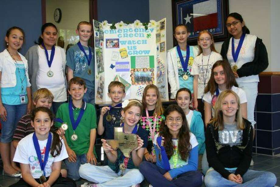 Bear Branch fifth grade Advanced Academics students were in Austin April 17 through 19 to receive the state Future Problem Solvers' Environment Award for Community Problem Solving.