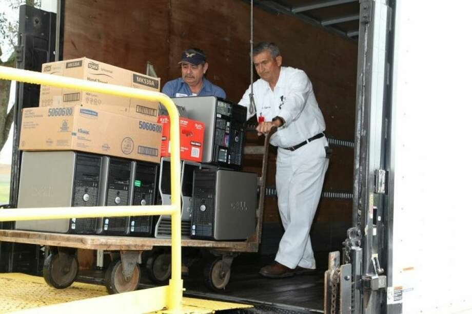 USACE Galveston District's Logistics Activity donates 64 computers to the Pearland Independent School District, Texas, as part of the federal government's Computers for Learning Program. The district began transferring computers in 1996 to local schools (rather than disposing of the equipment following routine computer refreshes every three to five years) and has donated more than 1,300 used computers to local schools since then. Visit http://computersforlearning.gov/ for more information about this program. Photo: SUBMITTED PHOTO
