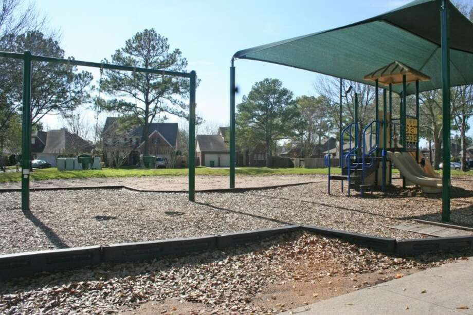 Inwood Park's playground equipment provides plenty of nearby fun for children living in the surrounding subdivision.