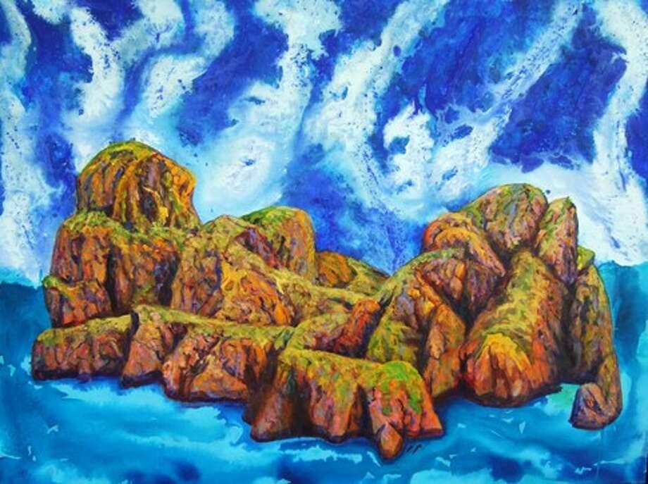 "Sanctuary, 2012, acrylic on canvas, 30x40"""