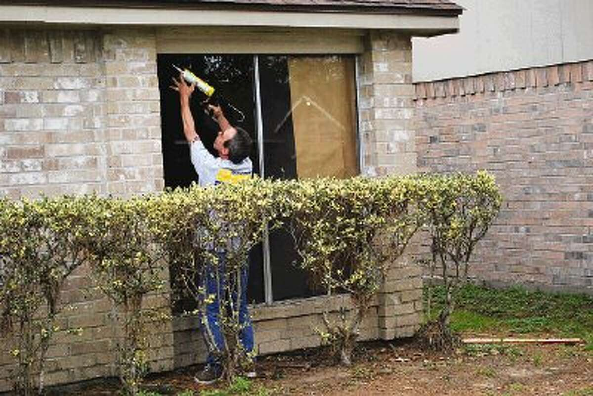 Window repairs were in order after two deer crashed through the windows of two neighboring residences in Atascocita on the afternoon of Feb. 20.