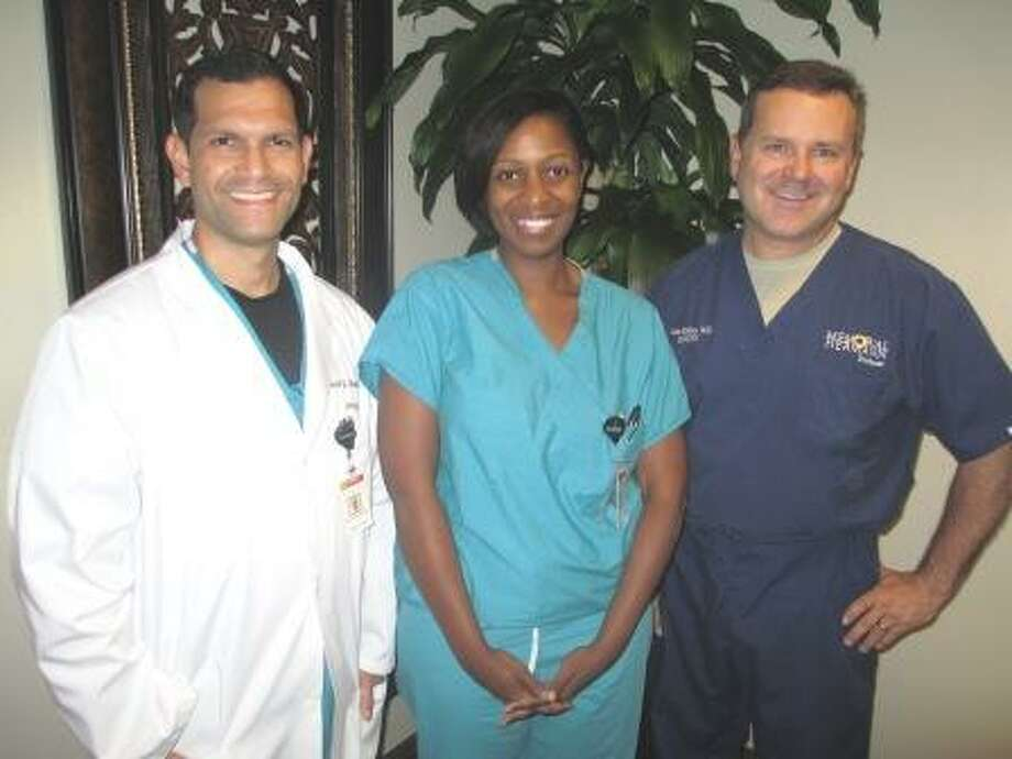 The Memorial Hermann Medical Group Northeast Women's Healthcare Team: David Bonilla, M.D., Vonne Jones, M.D. and Miles Mahan, M.D. Photo: Submitted Photo