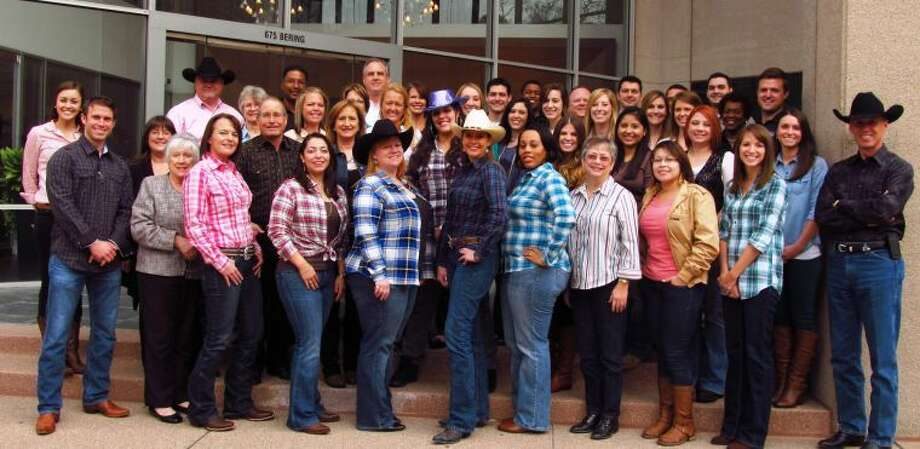 A team Go Texan Day photo from Asset Plus Corp in Uptown.