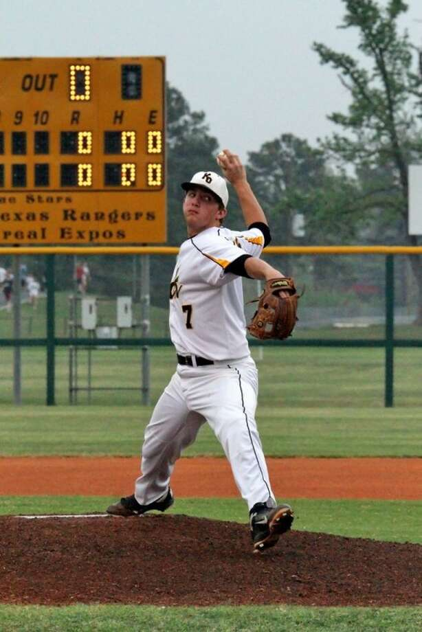 Klein Oak High junior pitcher Reid Frazier competes for the Panthers, who have won seven consecutive district games to move into sole possession of first place in Class 5A-District 13.