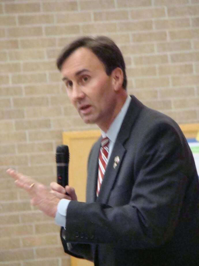 Congressman Pete Olson warned Clear Lake residents about the unsustainable deficit the country is building during a Town Hall he held Saturday at Clear Lake Intermediate School.