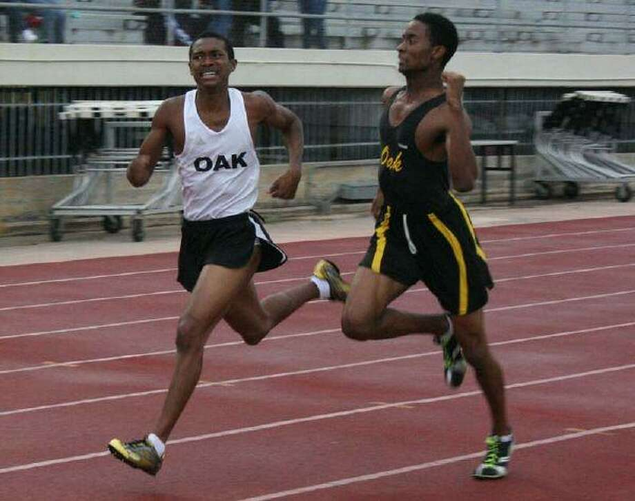 The Klein Oak boys track and field team captured the District 13 Championship Thursday night at Klein Memorial Stadium (Photo by Michael Sudhalter)